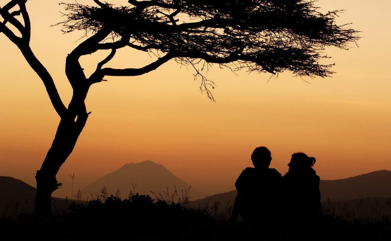 Sonnenuntergang im Tarangire in Tansania