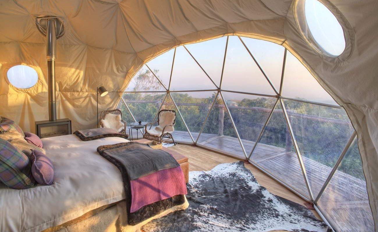 Schlafzimmer eines Domes im The Highlands