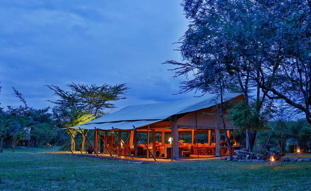 Messzelt von Olengoti in der Masai Mara