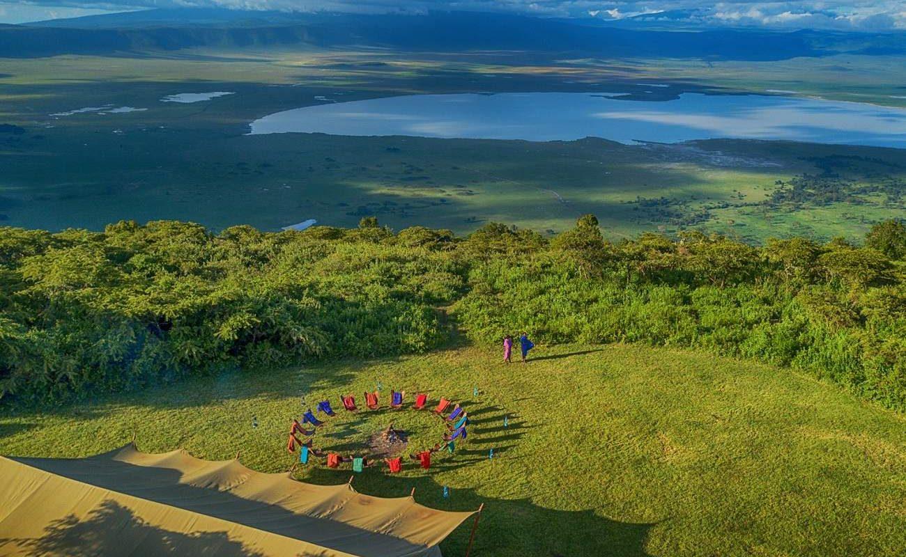 Blick von Pakulala in den Ngorongoro Krater