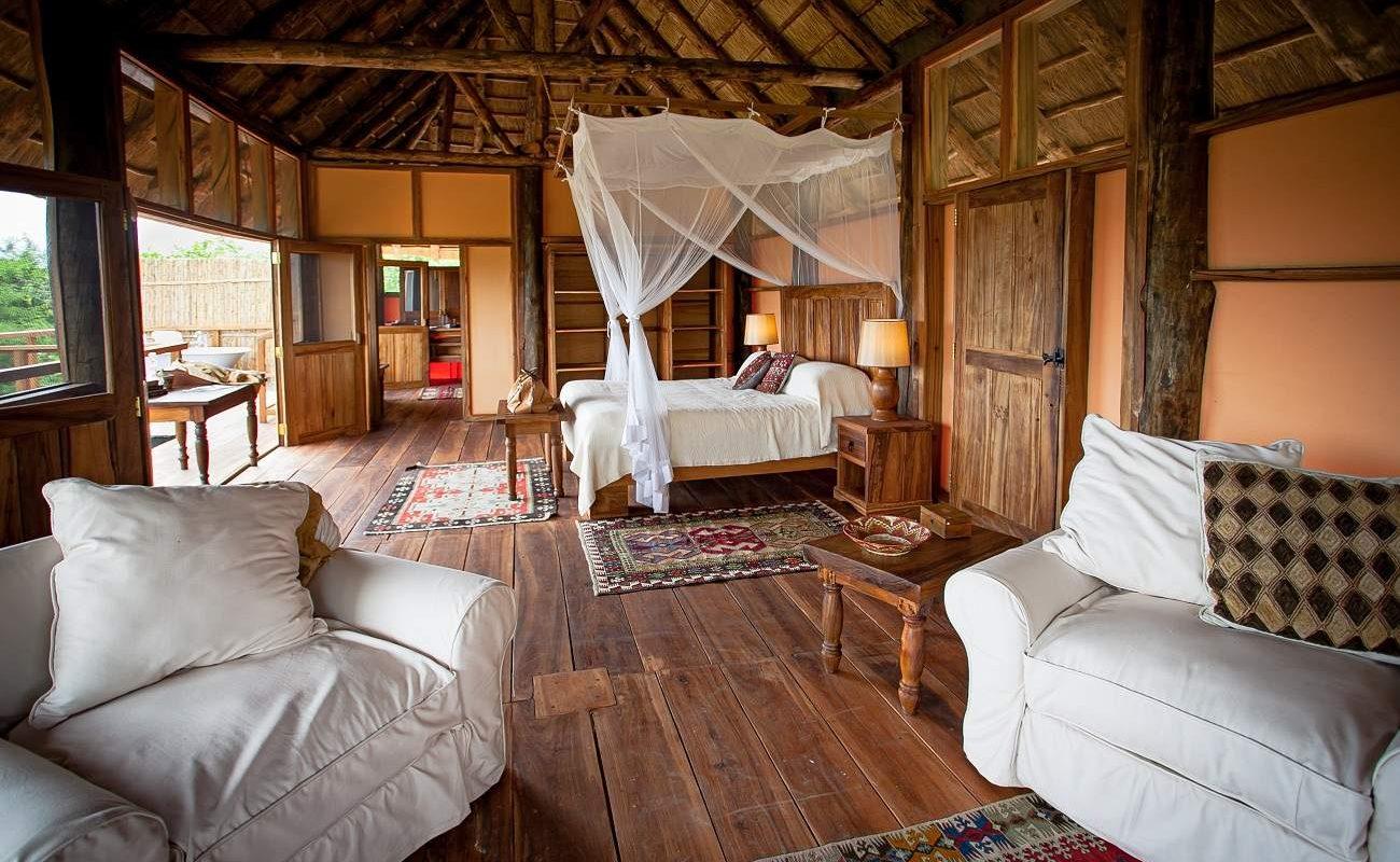Zimmer in der Semliki Lodge