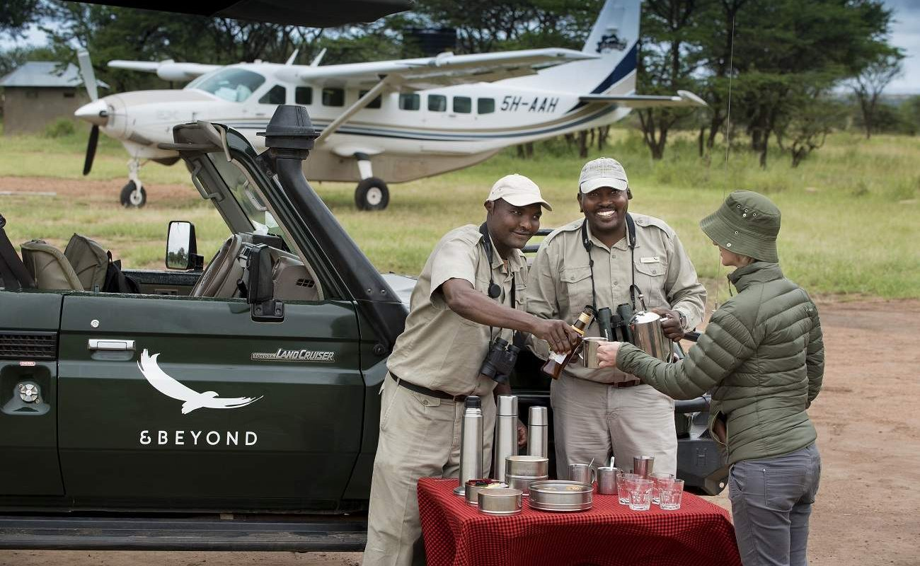 Ankunft am Lobo Airstrip, Serengeti