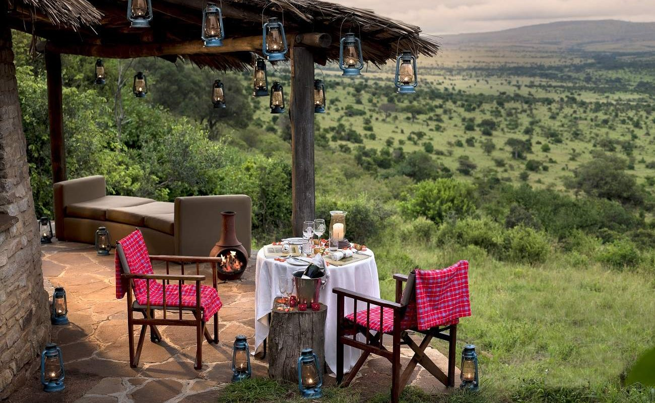 Privates Dinner im Kleins Camp in Tansania