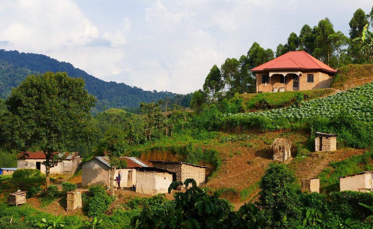 Dorf am Rand des Bwindi