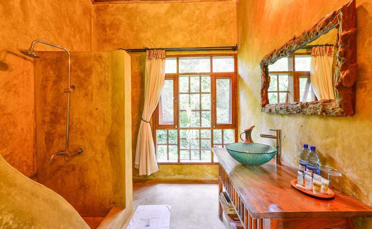 Badezimmer eines Luxury Chalets