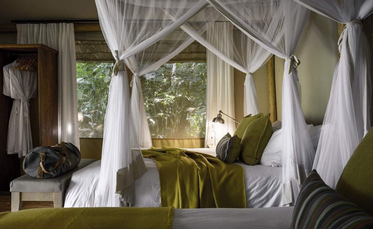 Luxuszelt im Sanctuary Gorilla Forest Camp