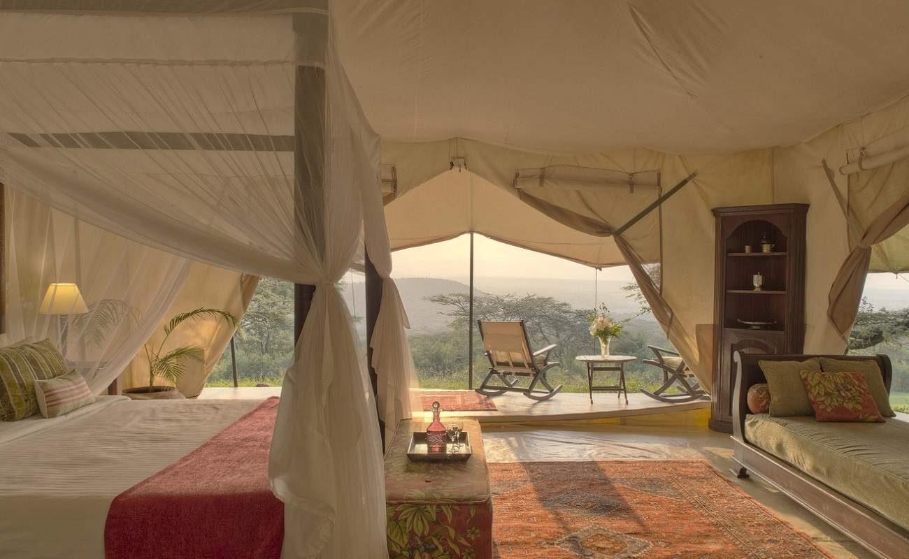 Ein komfortables Standard Zelt