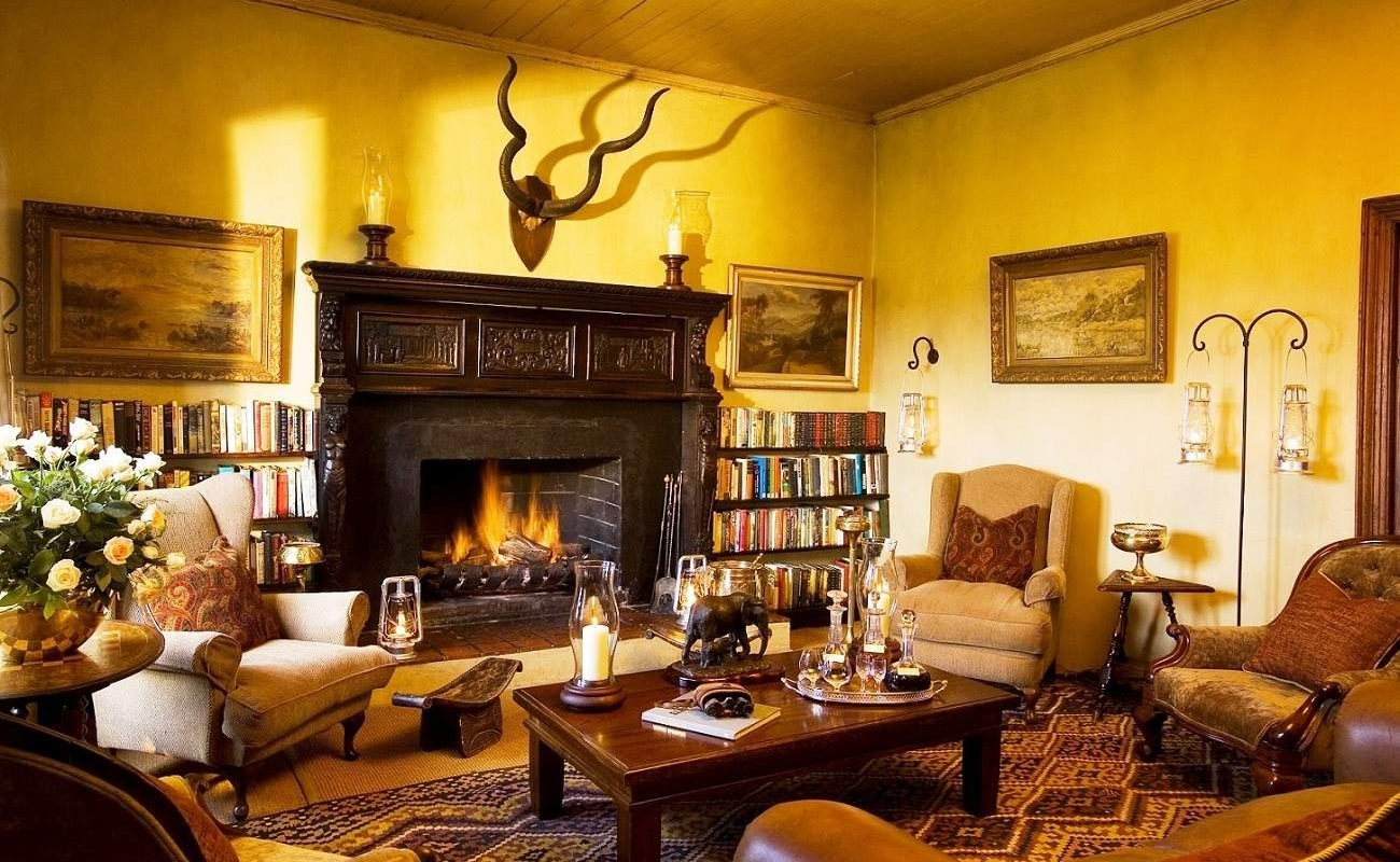 Lounge des Relais & Chateaux Camp im Addo Elephant
