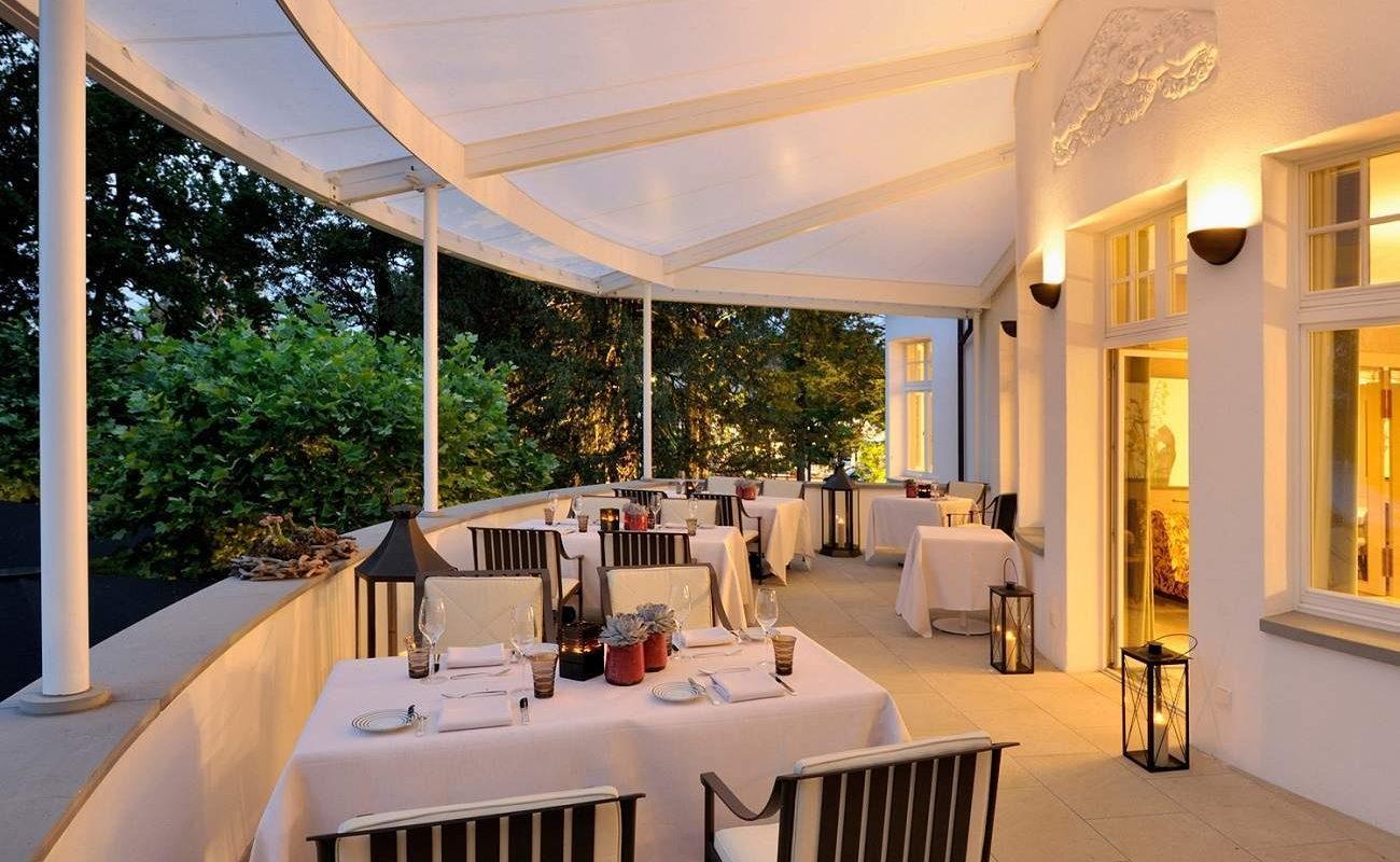 Terrasse des Gourmetrestaurant Ophelia