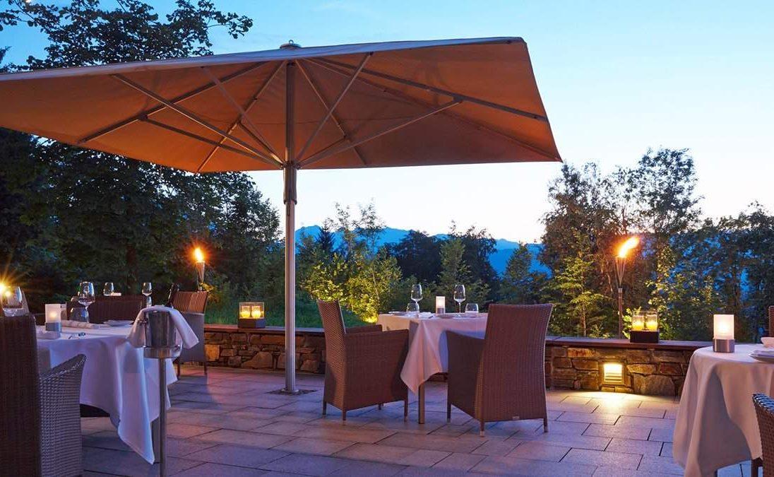 Auf der Terrasse des Johann Grill Restaurants