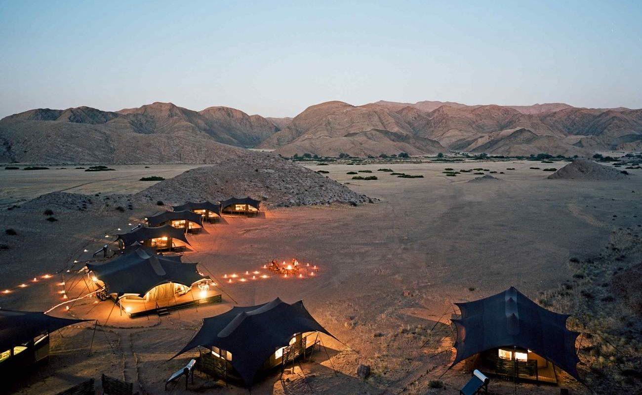 Hoanib Valley Camp - eine der Unterkünfte des exklusiven Flugsafari in Namibia