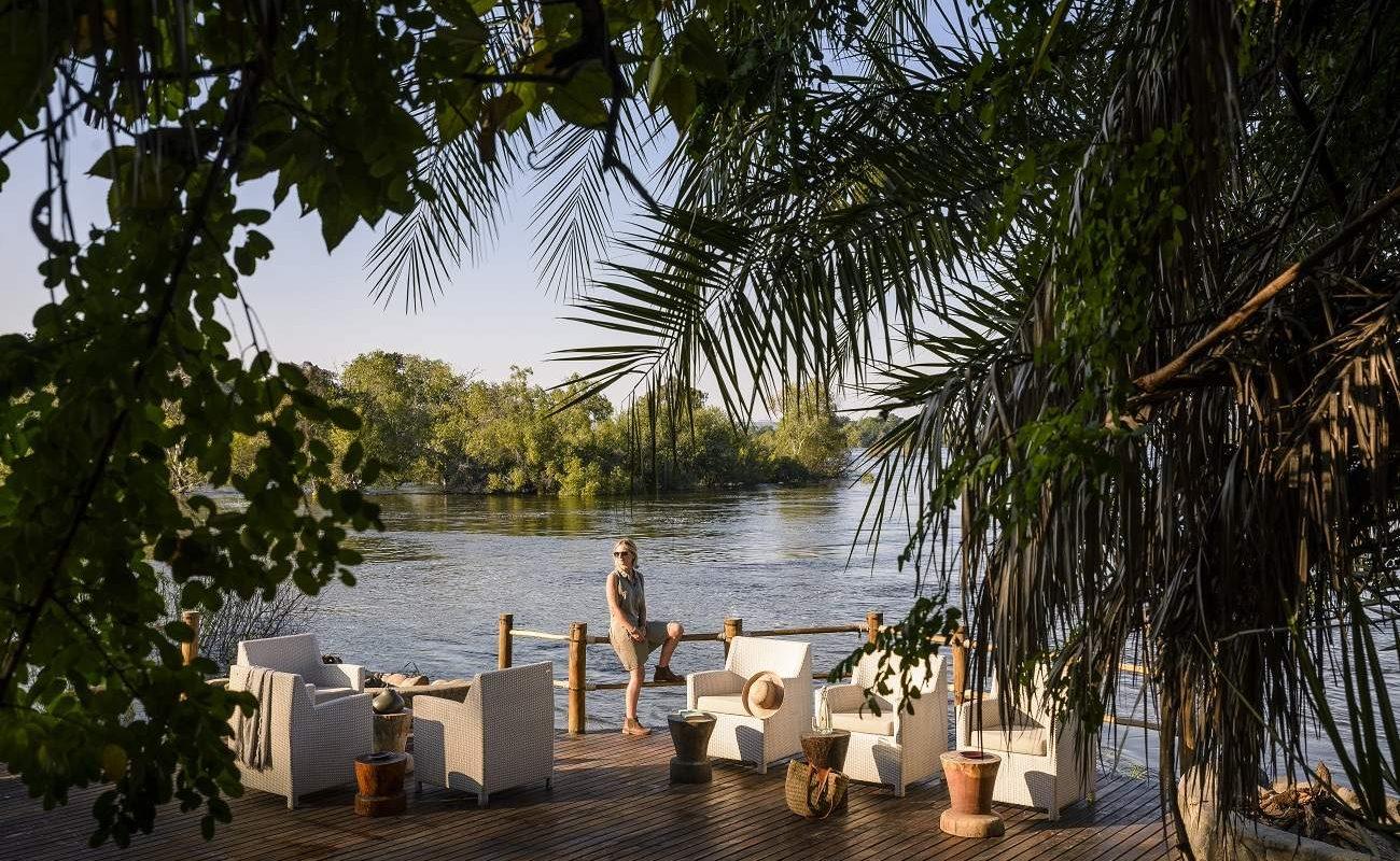 Blick auf den Zambezi River von Sussi & Chuma
