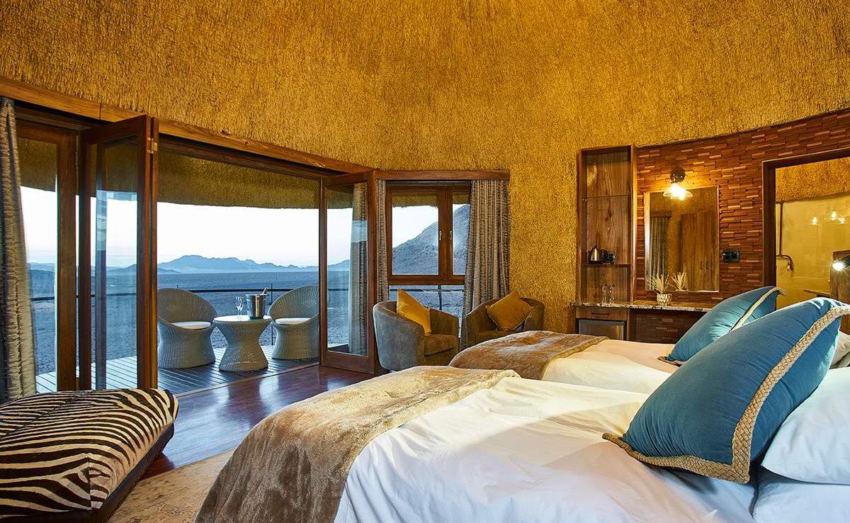 Schlafraum eines Chalets in der Desert Hills Lodge