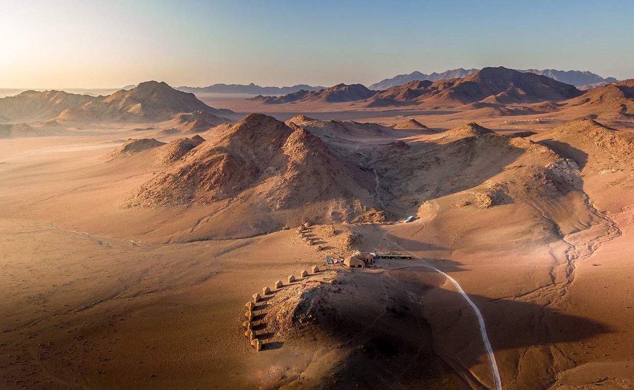 Luftaufnahme der Desert Hills Lodge