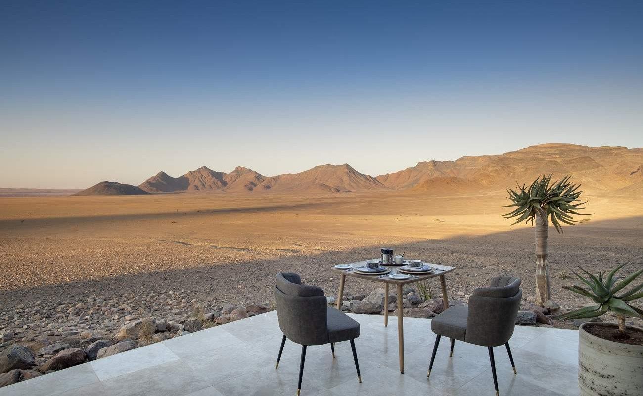 Frühstück in der Sossusvlei Desert Lodge