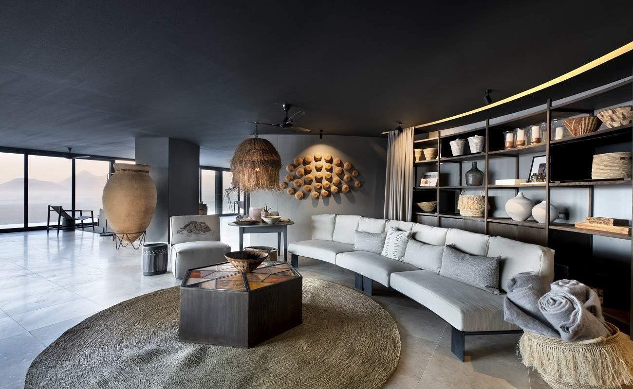 Lounge im Haupthaus der Sossusvlei Desert Lodge