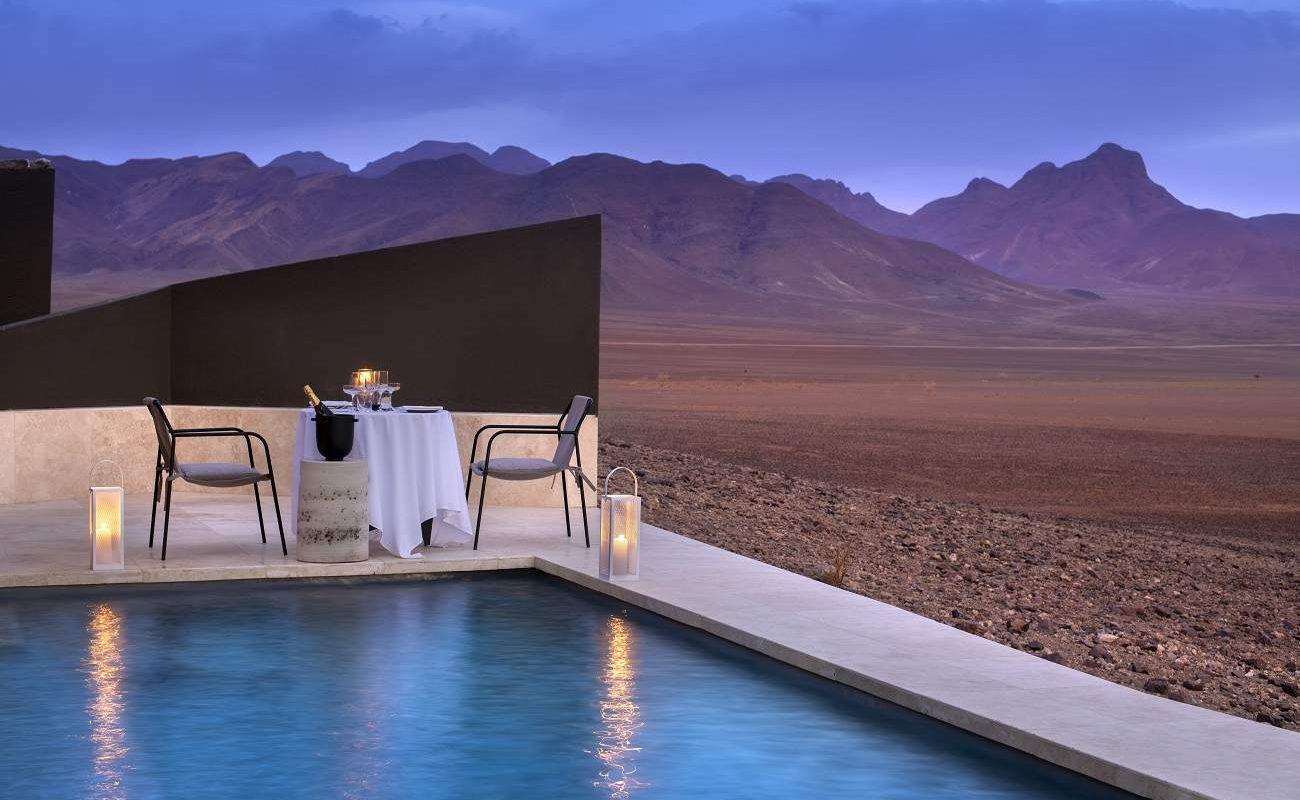 Privates Abendessen in der Sossusvlei Desert Lodge