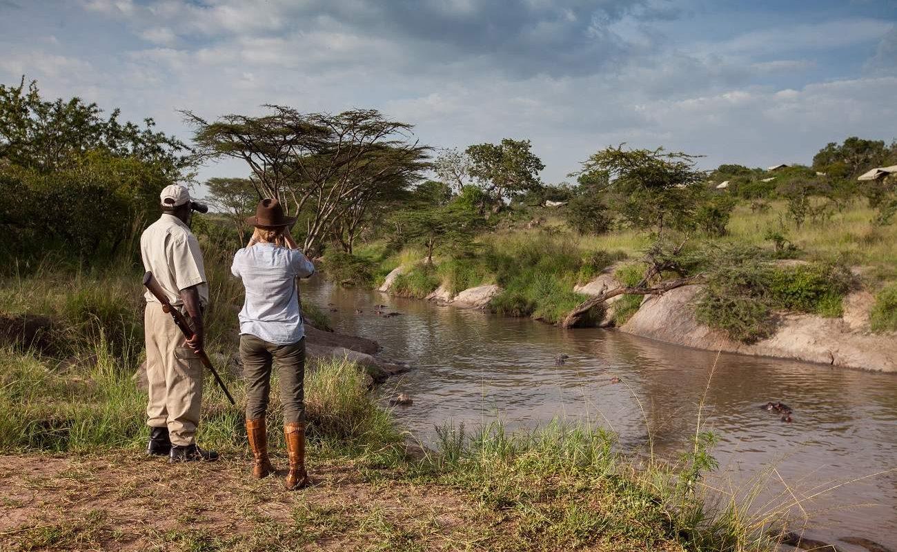 Am Grumeti River in der Serengeti