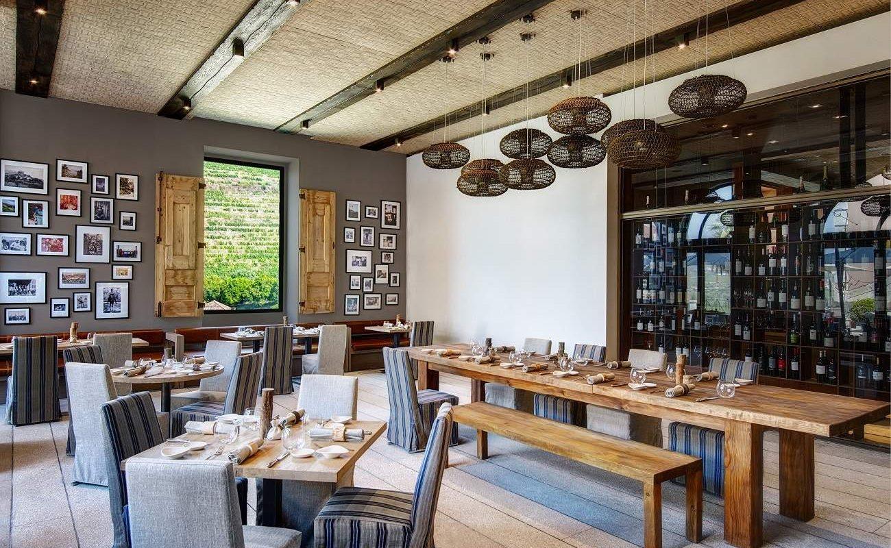 Restaurant Open Kitchen im Luxushotel am Douro Valley