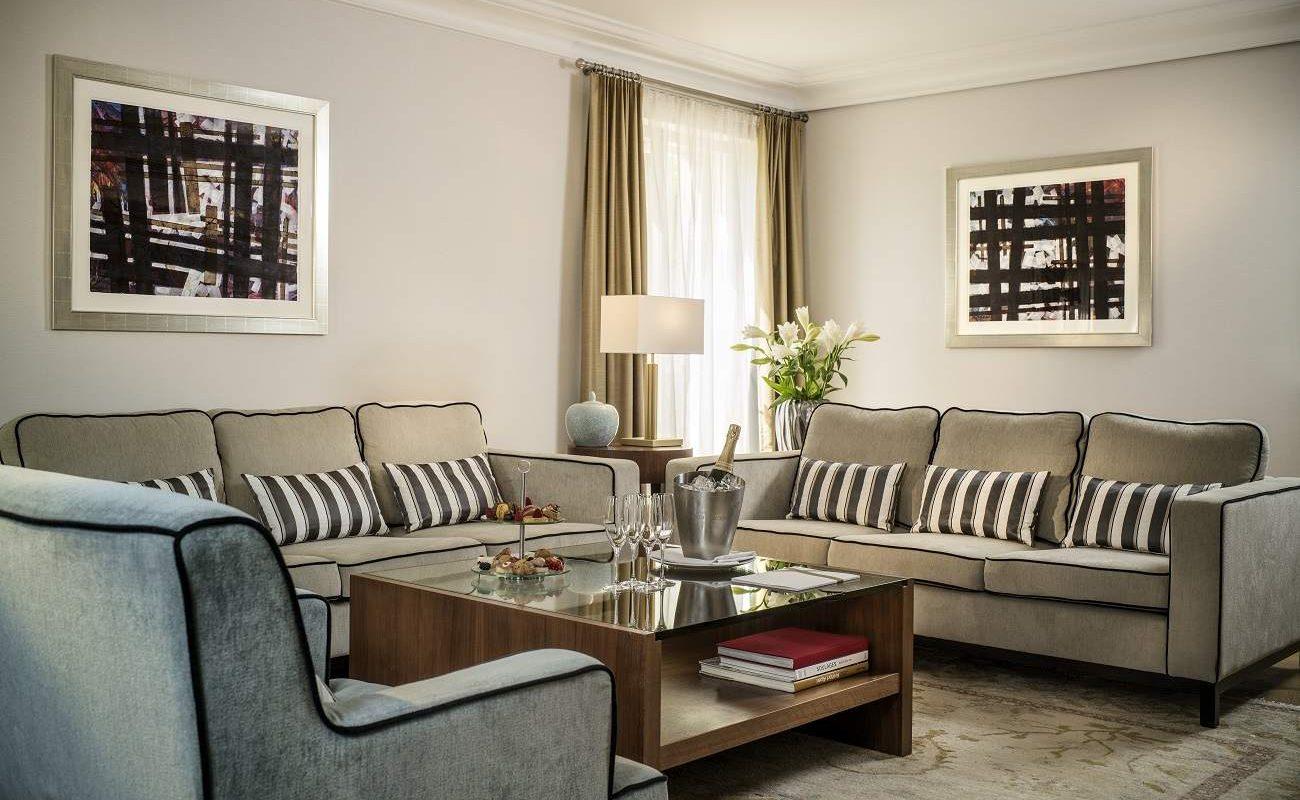 Wohnzimmer Deluxe Suite Maison Messmer