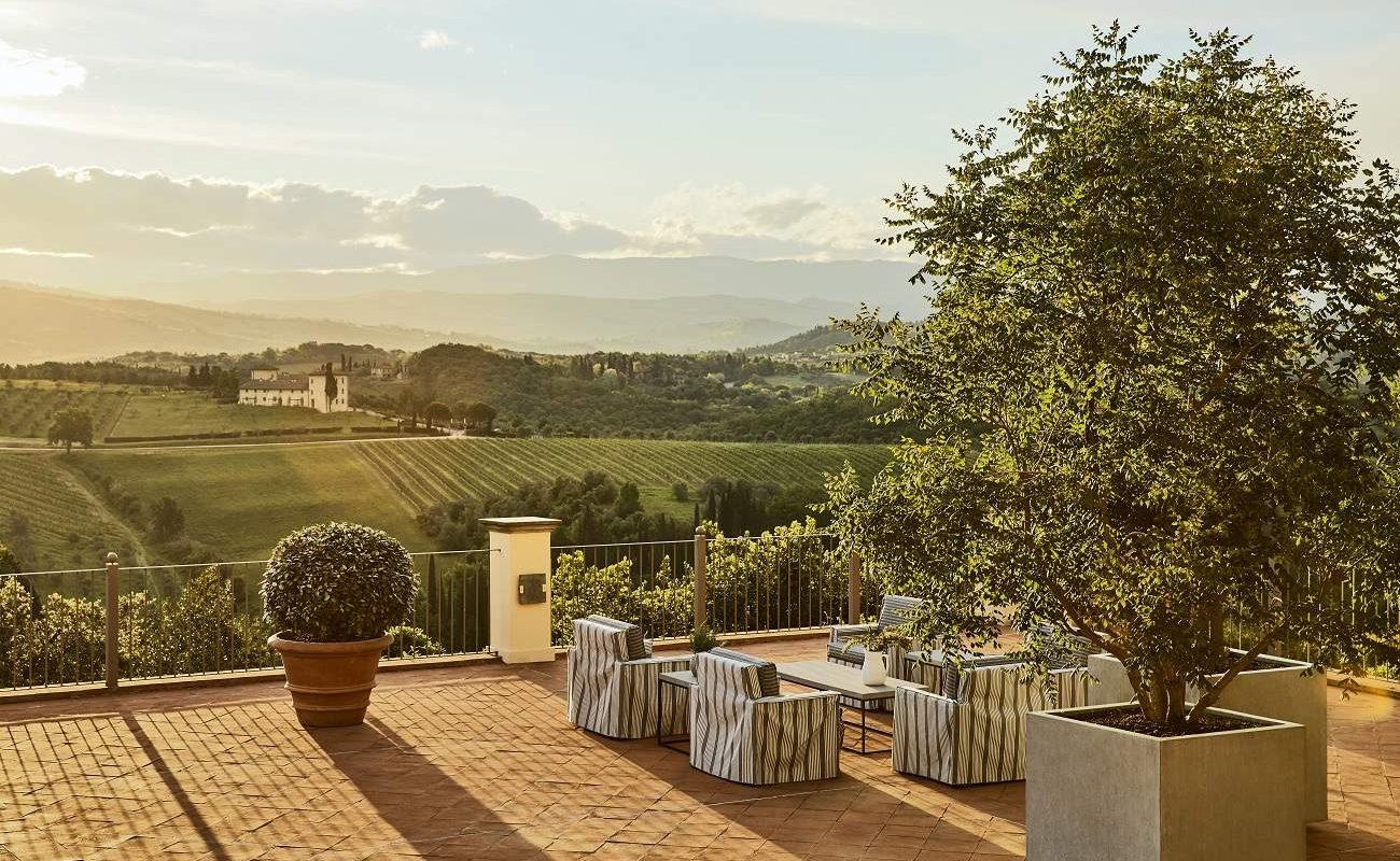Panoramaterrasse mit Blick über das Chianti