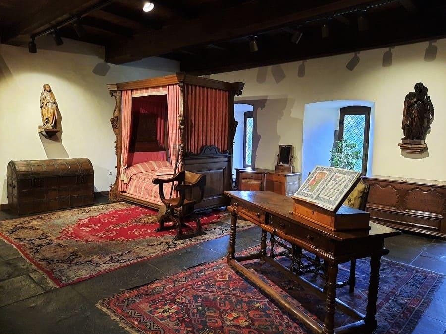 Schlafzimmer im Schloss von Vianden